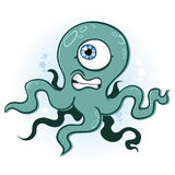 Octopus or Squid. An octopus or a squid, your choice. He is cycloptic so he has limited depth perception stock illustration
