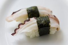 Octopus sushi Stock Photography