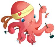 Octopus Sushi Chef royalty free stock image