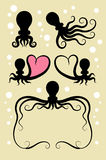 Octopus Symbol Decorations Royalty Free Stock Image