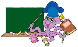 Octopus teacher with blackboard Stock Photo