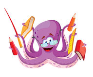 Octopus teacher. Illustration of a octopus teacher Stock Photography