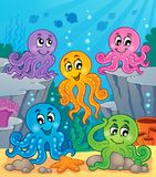Octopus theme image 1 Royalty Free Stock Photo