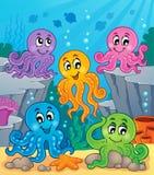 Octopus theme image 1. Eps10 vector illustration Royalty Free Stock Photo