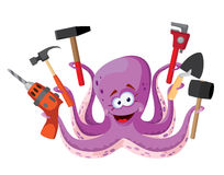 Octopus with tools Stock Photography
