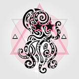 Octopus. Tribal pattern Stock Images