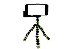 Octopus Tripod  with phone 1 Stock Photography