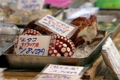 Octopus at Tsukiji Fish Market Tokyo Royalty Free Stock Photos