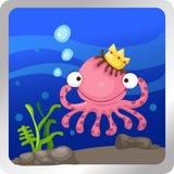 Octopus underwater Royalty Free Stock Photos