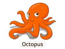 Octopus van het overzeese de dierlijke illustratie vissenbeeldverhaal Royalty-vrije Stock Foto