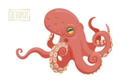 Octopus, vector cartoon illustration Royalty Free Stock Photography