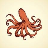Octopus. Vector drawing Stock Photos