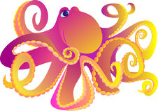Octopus. Vector illustration  Royalty Free Stock Photos