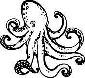 Octopus. Vector illustration Stock Images
