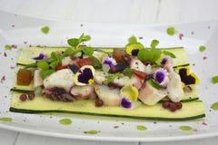 Octopus in vinaigrette stock photos