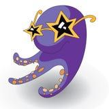 Octopus vith glasses. Fun octopus vith glasses, illustration Royalty Free Stock Photo