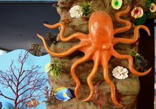 Octopus Wall Background Stock Photo