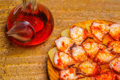 Octopus and wine jug Stock Image