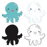 Octopus worksheet vector design
