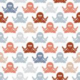 Octopuses background pattern. Royalty Free Stock Image