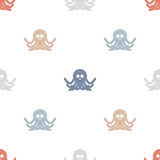 Octopuses background pattern. Royalty Free Stock Photos