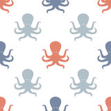 Octopuses background pattern. Royalty Free Stock Images