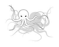 Octopusillustratie Stock Fotografie