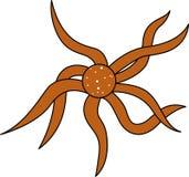 Octopusillustratie met vogel` s-oog mening Royalty-vrije Stock Afbeeldingen