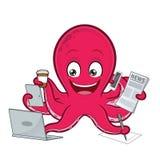 Octopusmultitasking Stock Fotografie