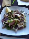 Octopussalade stock afbeelding