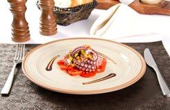 Octopussalade stock afbeeldingen