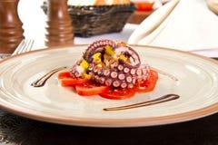Octopussalade royalty-vrije stock fotografie