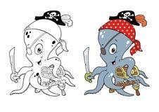 Octotpus-Pirat Stockfoto