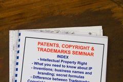 Octrooien, auteursrecht en handelsmerk royalty-vrije stock foto