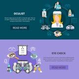 Oculist Eye Test Banners Stock Image