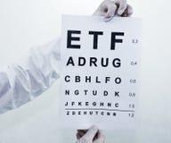 Oculist Eyesight Test Stock Images