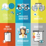 Oculist mini poster set Royalty Free Stock Photos