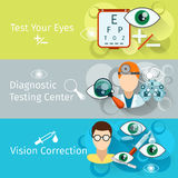 Oculist and optometry horizontal banners Royalty Free Stock Photo