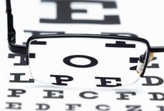 Oculista dell'esame di vetro immagini stock libere da diritti