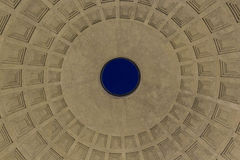 Oculos on the top of Pantheon in Rome Stock Images