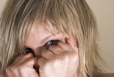 Ocultación de la cara Imagen de archivo libre de regalías