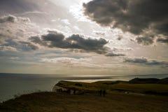 Ocultación detrás de las nubes Imagenes de archivo