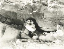 Ocultación hacia fuera en miedo Foto de archivo libre de regalías