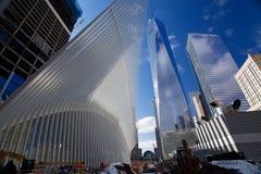 OCULUS,世界贸易中心运输插孔 免版税库存照片