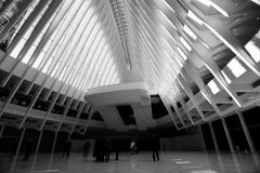 OCULUS, el eje del transporte del World Trade Center Foto de archivo