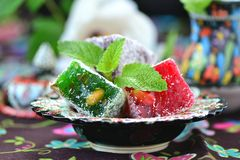 Ocum , turkish traditional delight Stock Image
