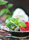 Ocum , turkish traditional delight Stock Photos