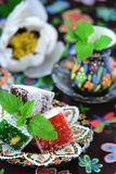 Ocum , turkish traditional delight Stock Photo