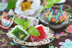 Ocum , turkish traditional delight Stock Images