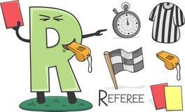 Ocupação de Alphabeth - letra R - árbitro ilustração do vetor
